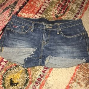 Hollister jean low rise shorts